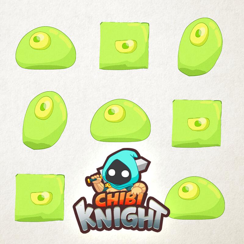 CHIBI KNIGHT BLOB ANIMATION
