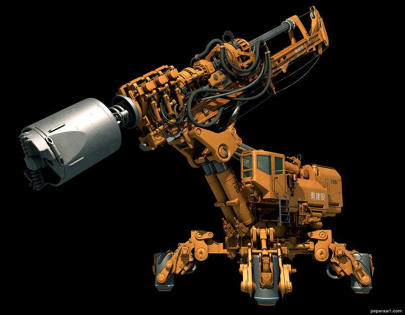 робот дрель