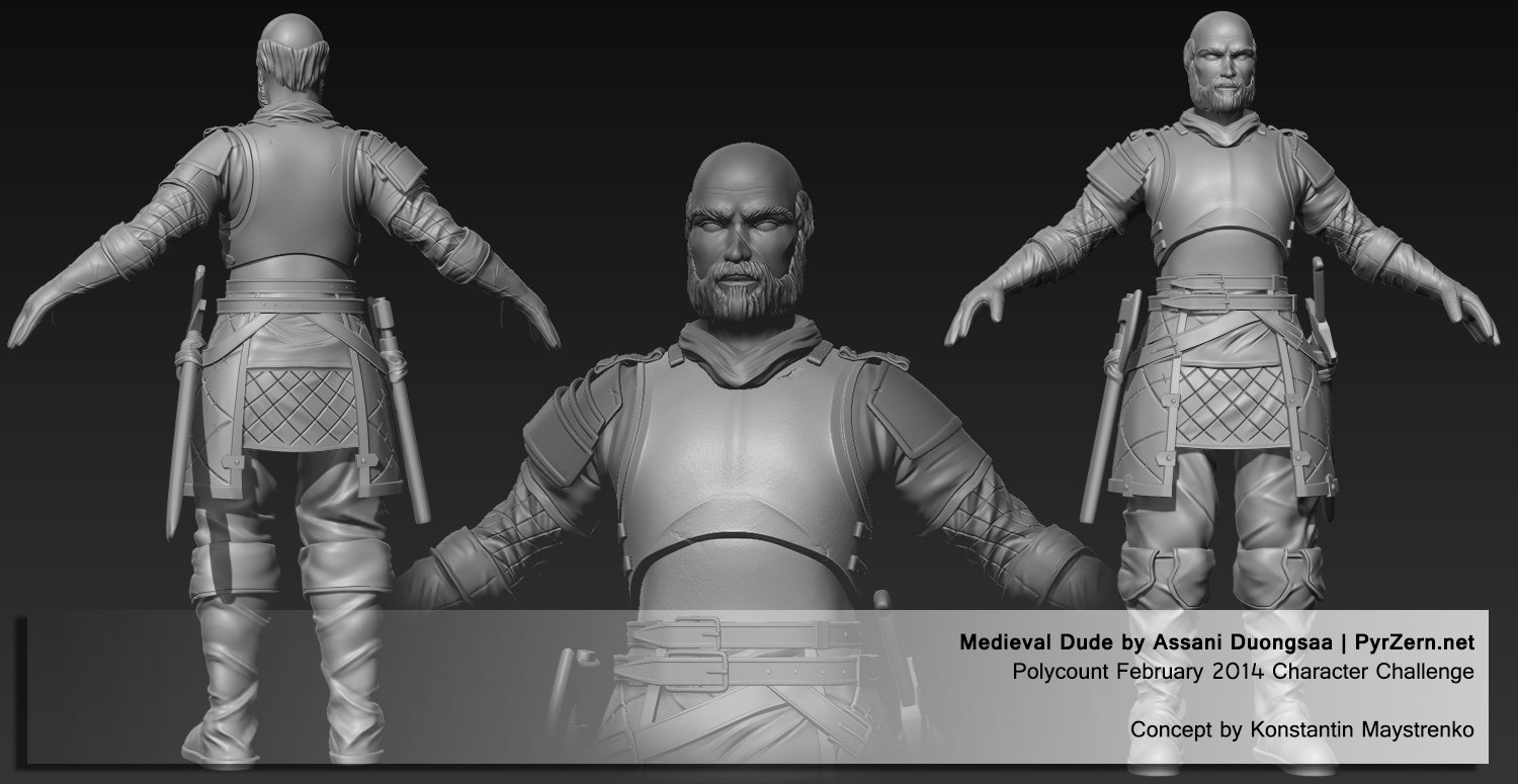 Polycount's Character Challenge of Feb 2014 - Medieval Dude