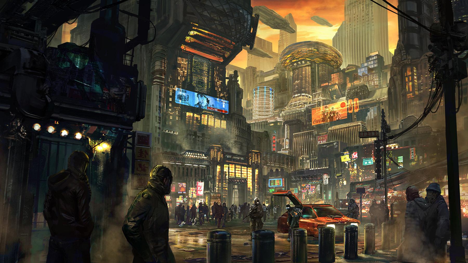 Slums Of Hong Kong By Yuri Gvozdenko Cyberpunk