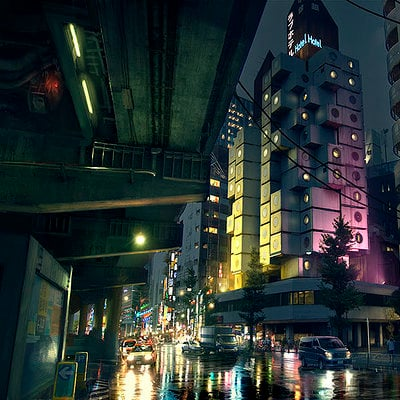 The Wolverine . Concept Art . Love Hotel Ext 01