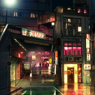 The Wolverine . Concept Art . Red Light District