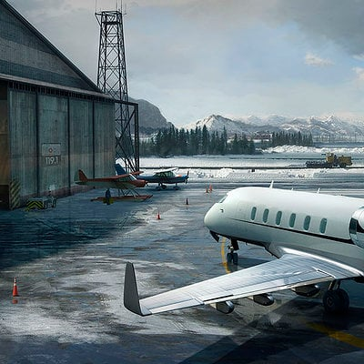 The Wolverine . Concept Art . Yukon Airport