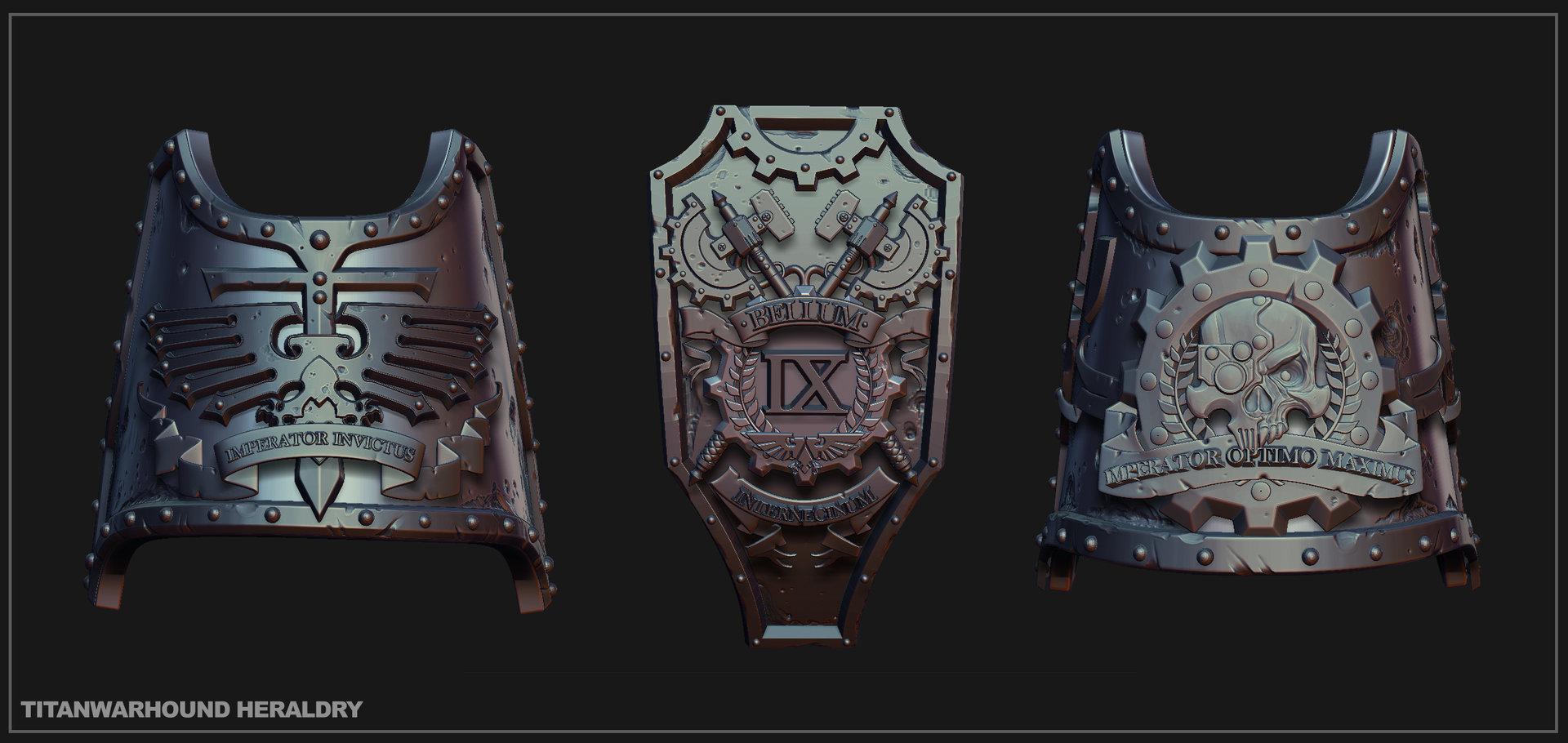 Titanwarhound heraldry
