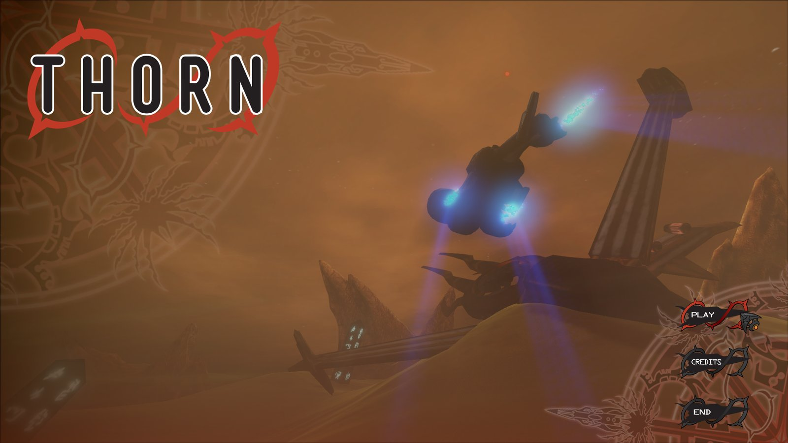 Menu Screen (I made the flying ship)