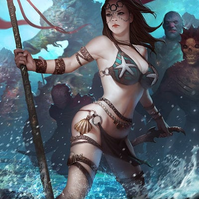 Female fighter of the sea by lasahido d6l25wr