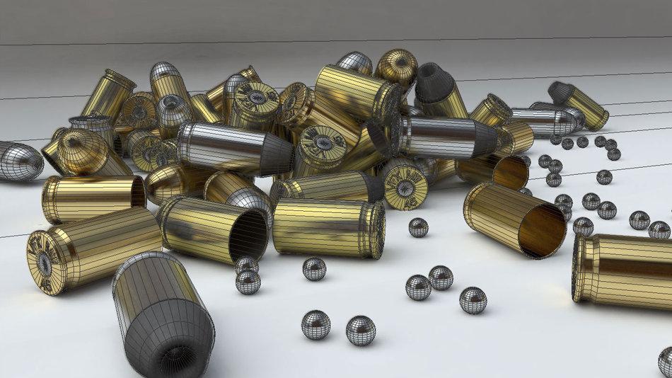 Bullets in wire