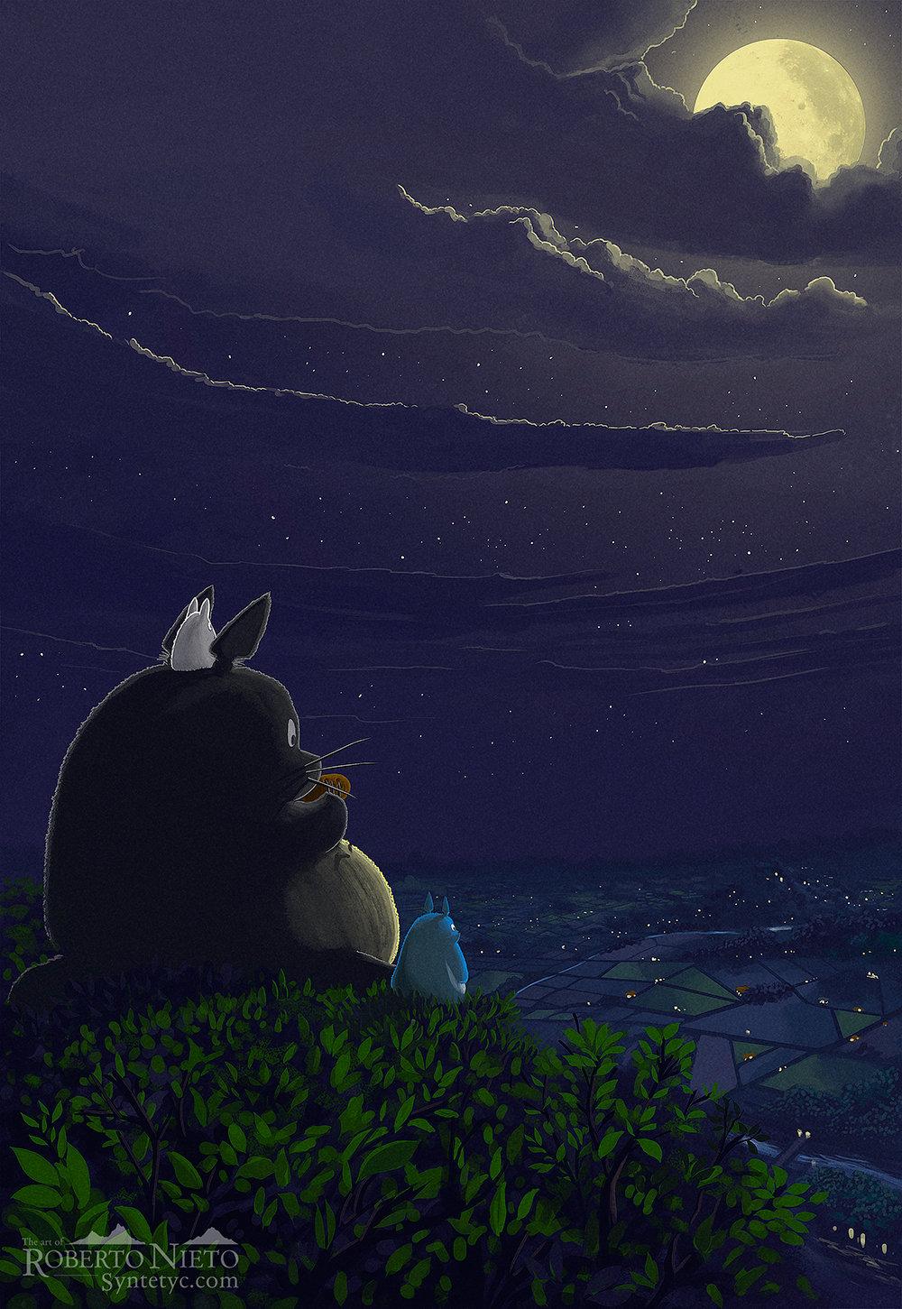 Totoro playing the ocarina
