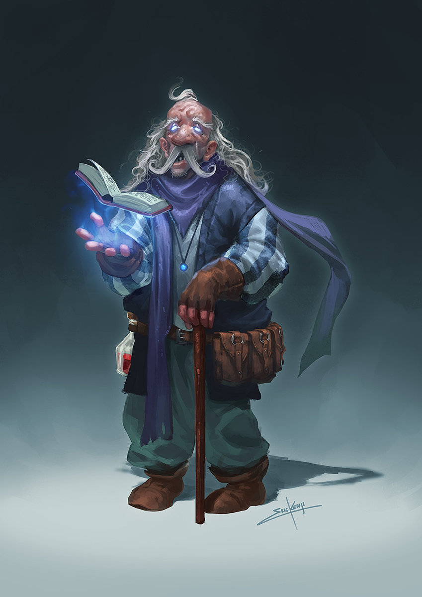 Old wizard low