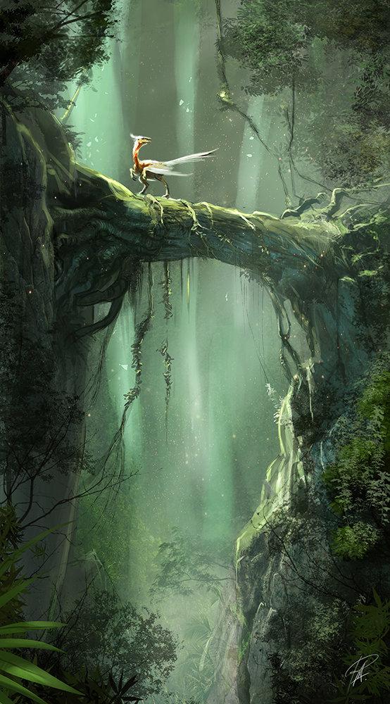 Forest dinosaur