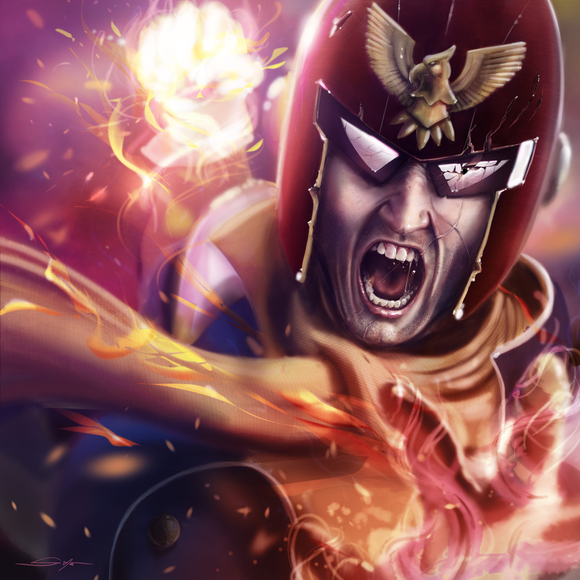 Image result for captain falcon artwork