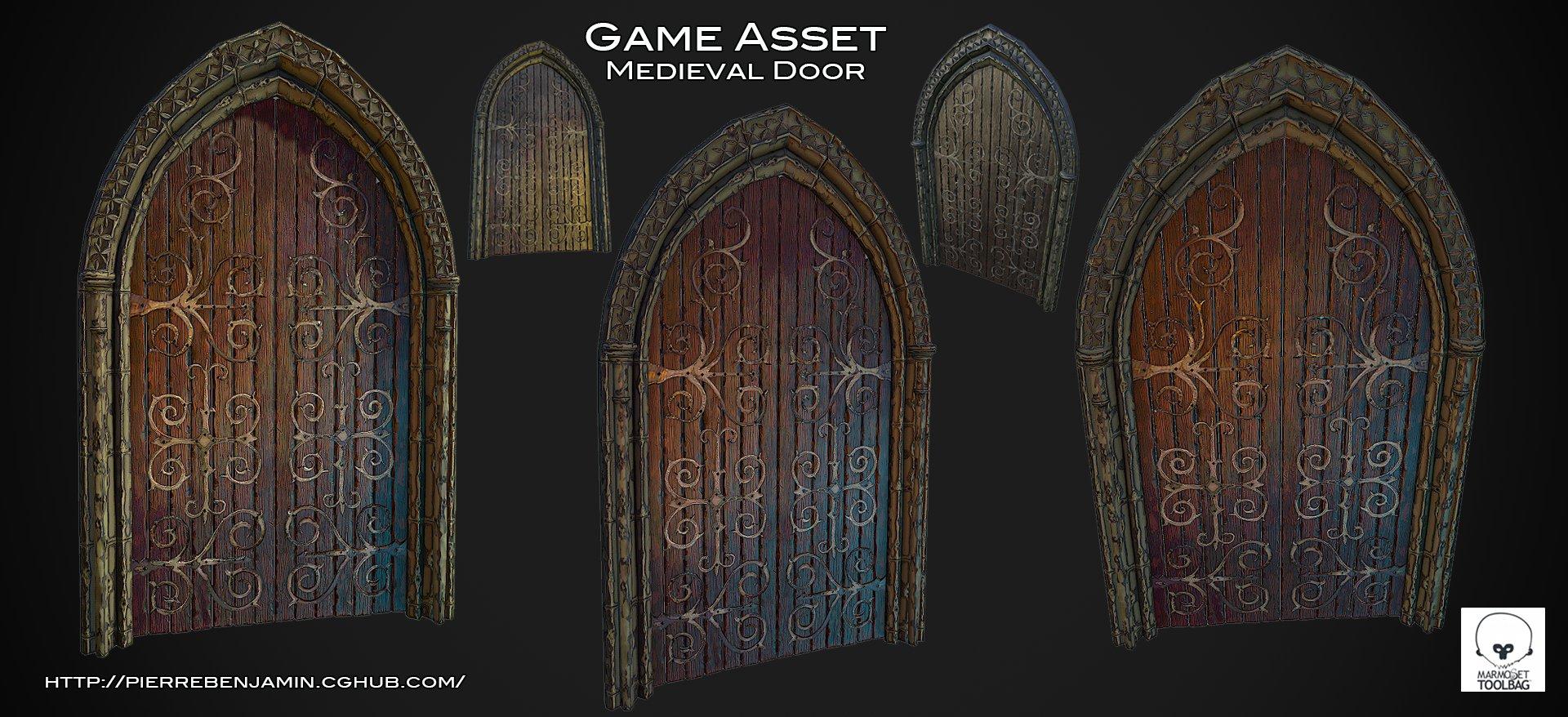 Medieval door test 007