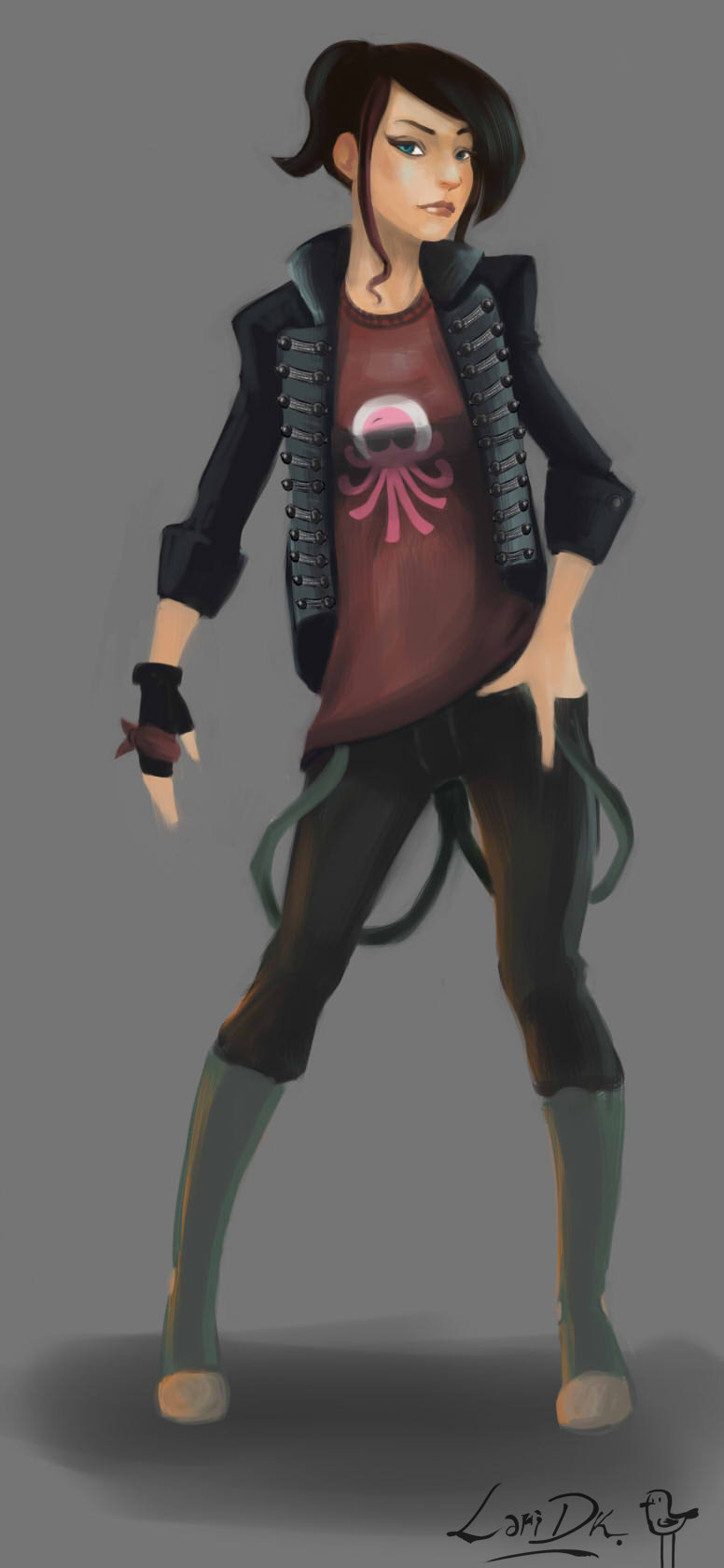 Violet concept lari