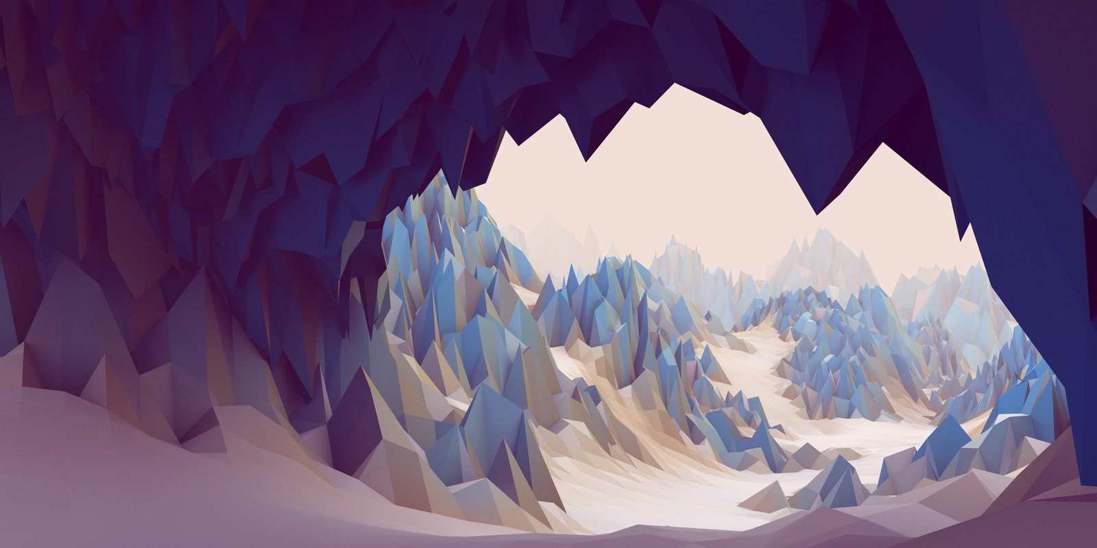 A Snowy Cave