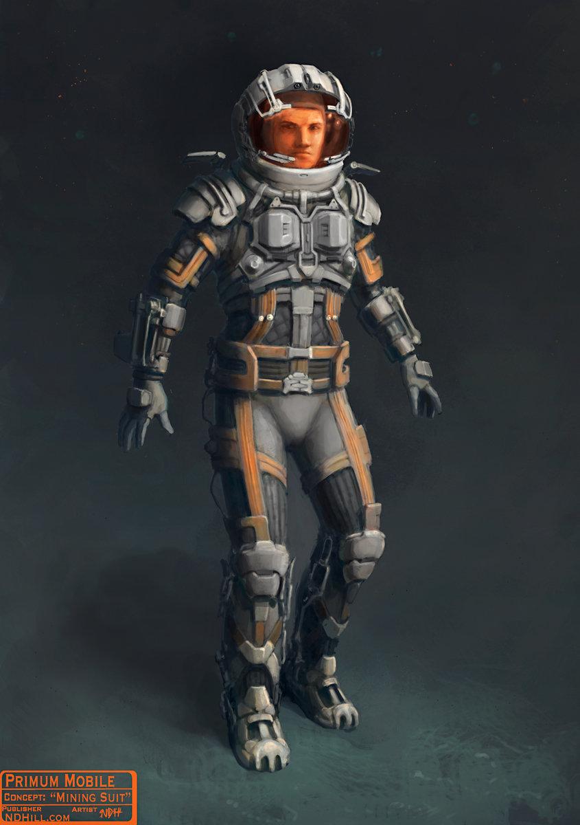 Primum Mobile | Character Concept : hand-me-down EVA Suit