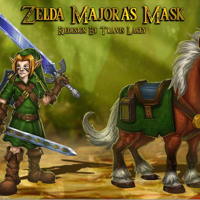 Zelda link epona majora's mask redesign travis lacey web2