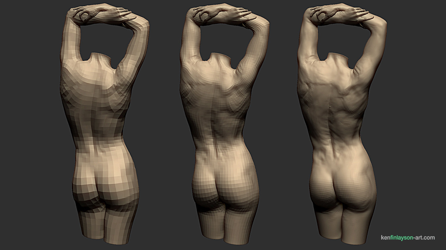 ArtStation - Female Anatomy Study Part 2, Ken Finlayson