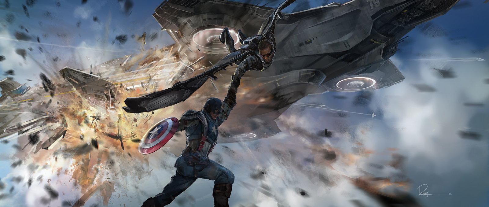 Key Frame Illustration - Marvel's Captain America The Winter Soldier 2