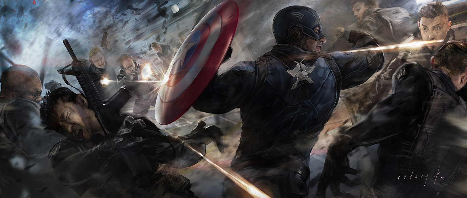 Key Frame Illustration - Marvel's Captain America The Winter Soldier 4