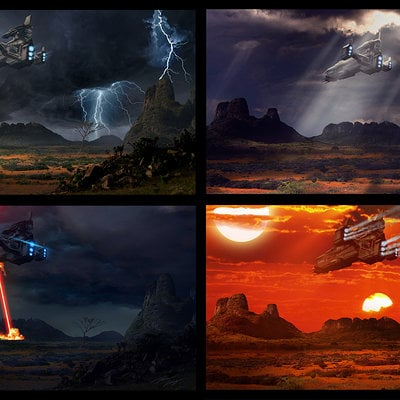 Travis lacey matte concept art space ship sci fi battle cruiser web