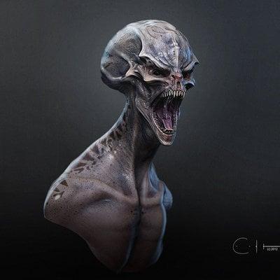 Alien head full