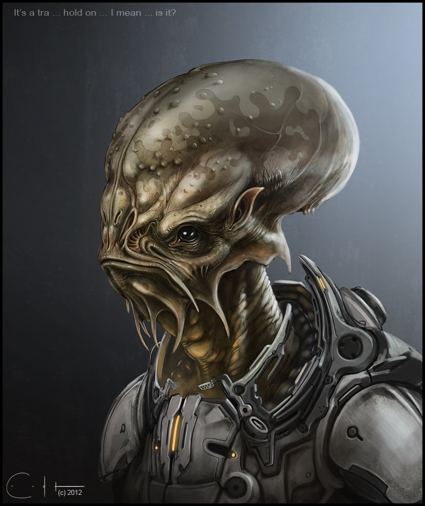 Concept alienbust