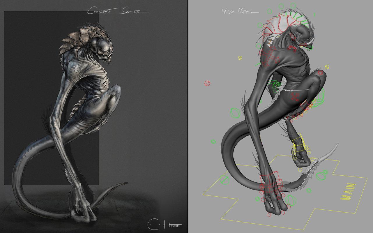 Shrieker - Concept and Rig