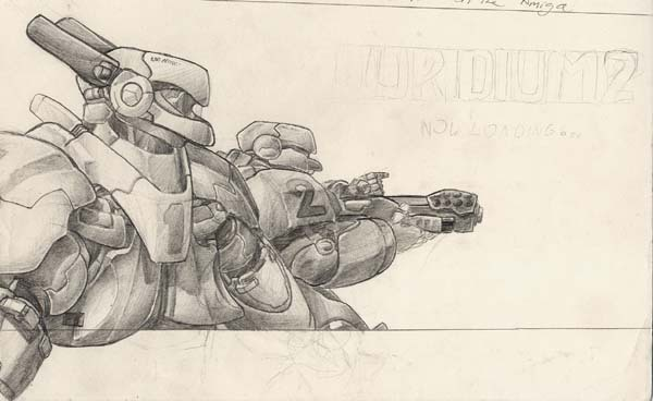 The Pencils for the loading screen (this was the very first art I scanned into a computer)