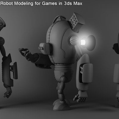 High poly robot modeling for games in 3ds max by spybg d5zp242