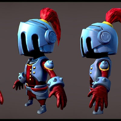 Small knight low poly by spybg d5vpmc7