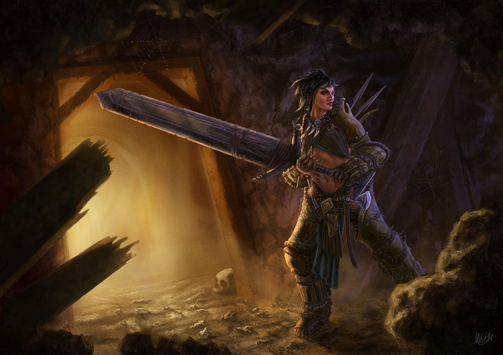 Pathfinder Fanart: Amiri