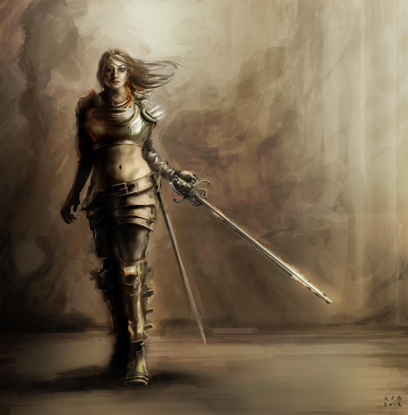 Sketches fencinggirl v007