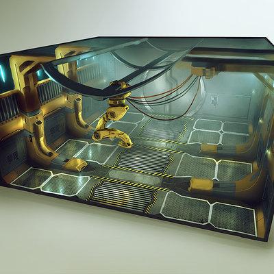 Ship interior concept 06 cargo bay 6x6