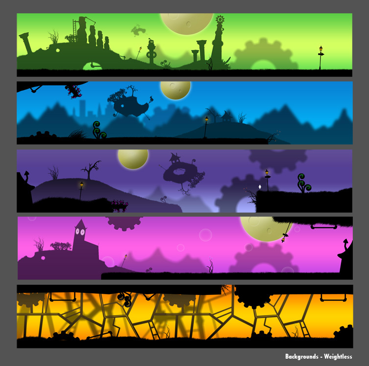 Game  weightless   backgrounds by cydel