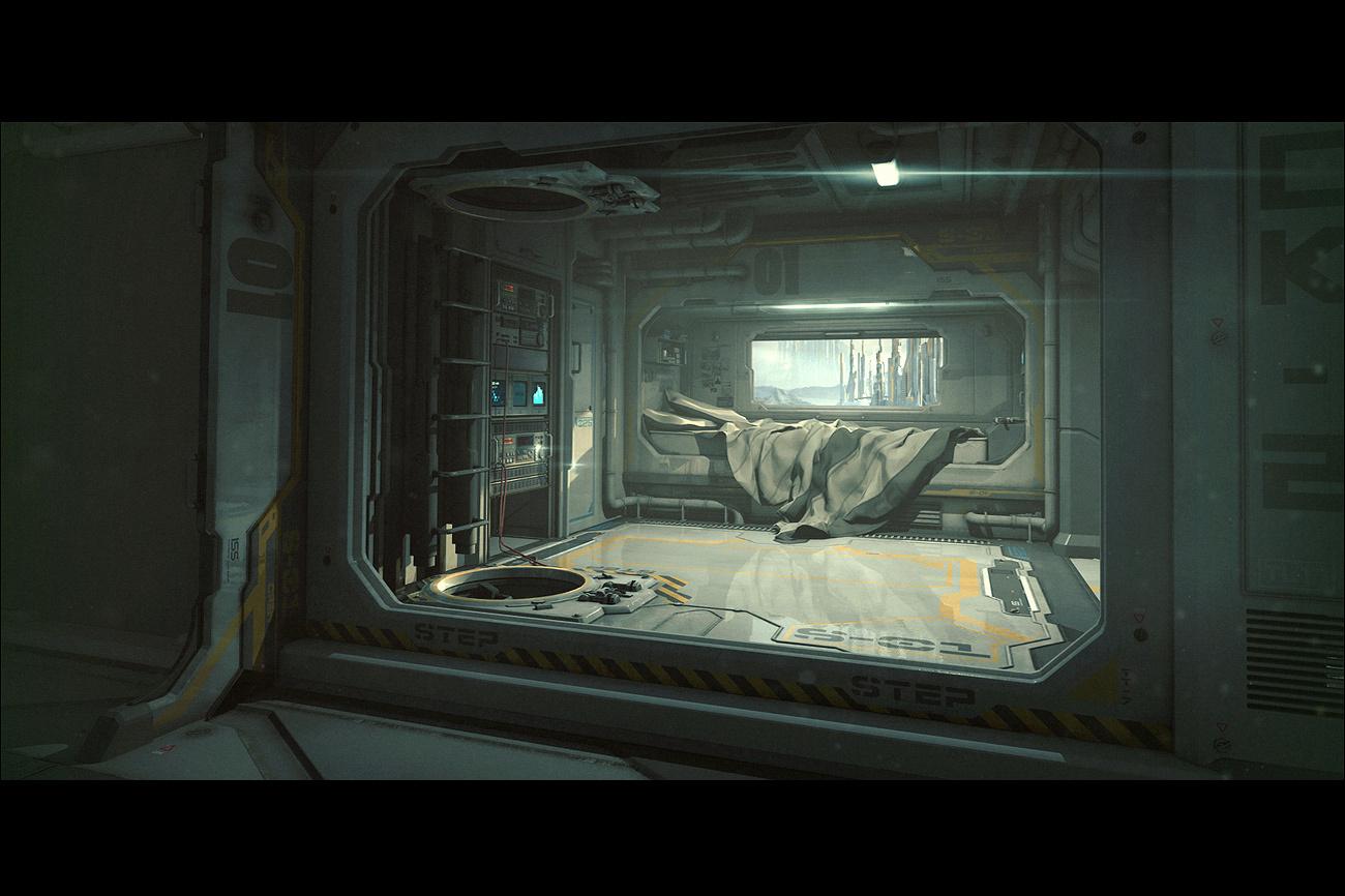 ArtStation Sci Fi Bedroom Stefan Morrell