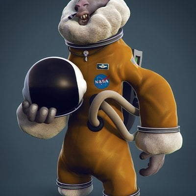 Sheep astronaut
