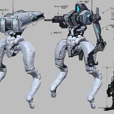 Mecha conmesh torso varients