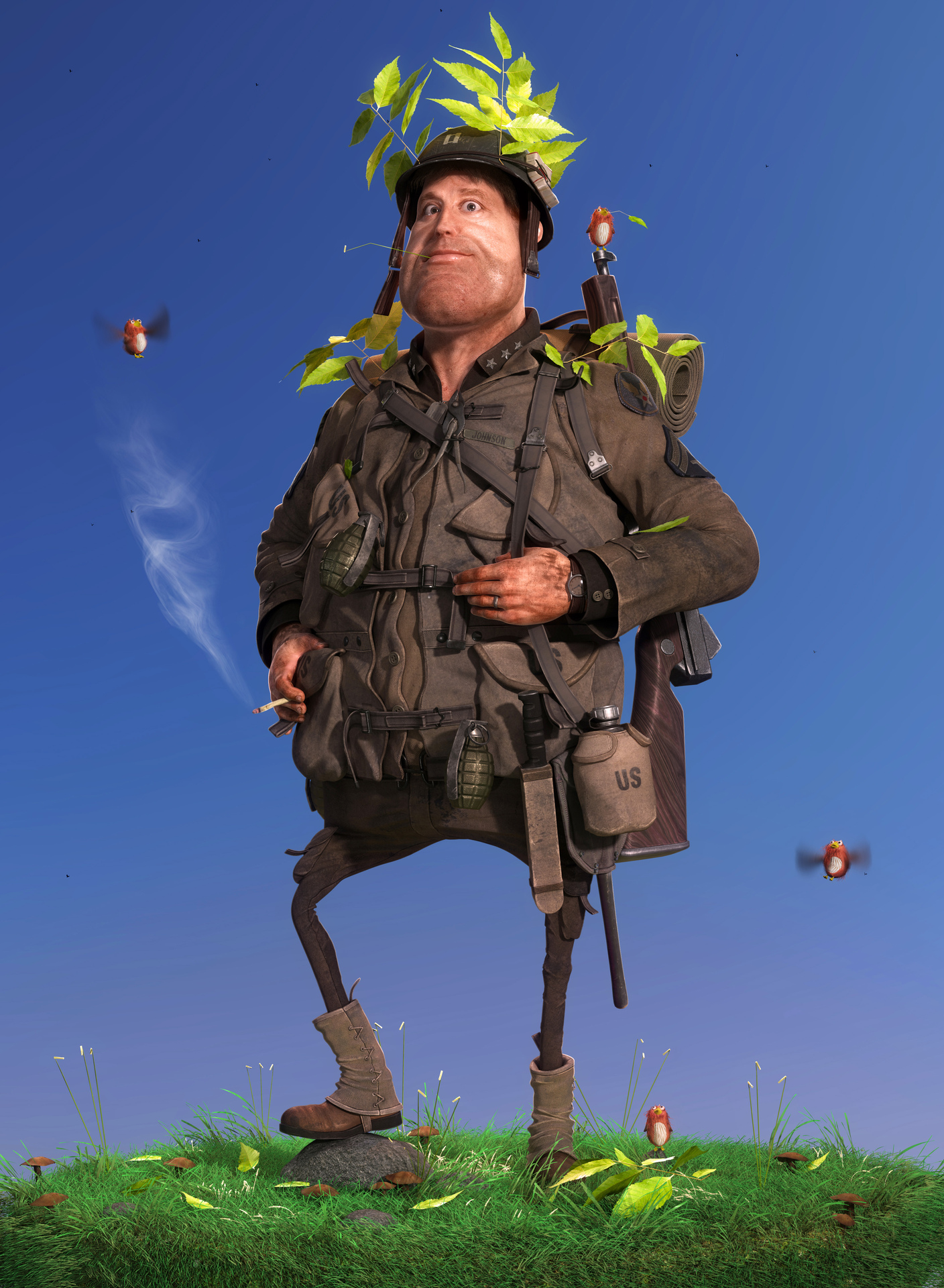 фото прикол толстого мужика в военной форме писала предыдущем посте