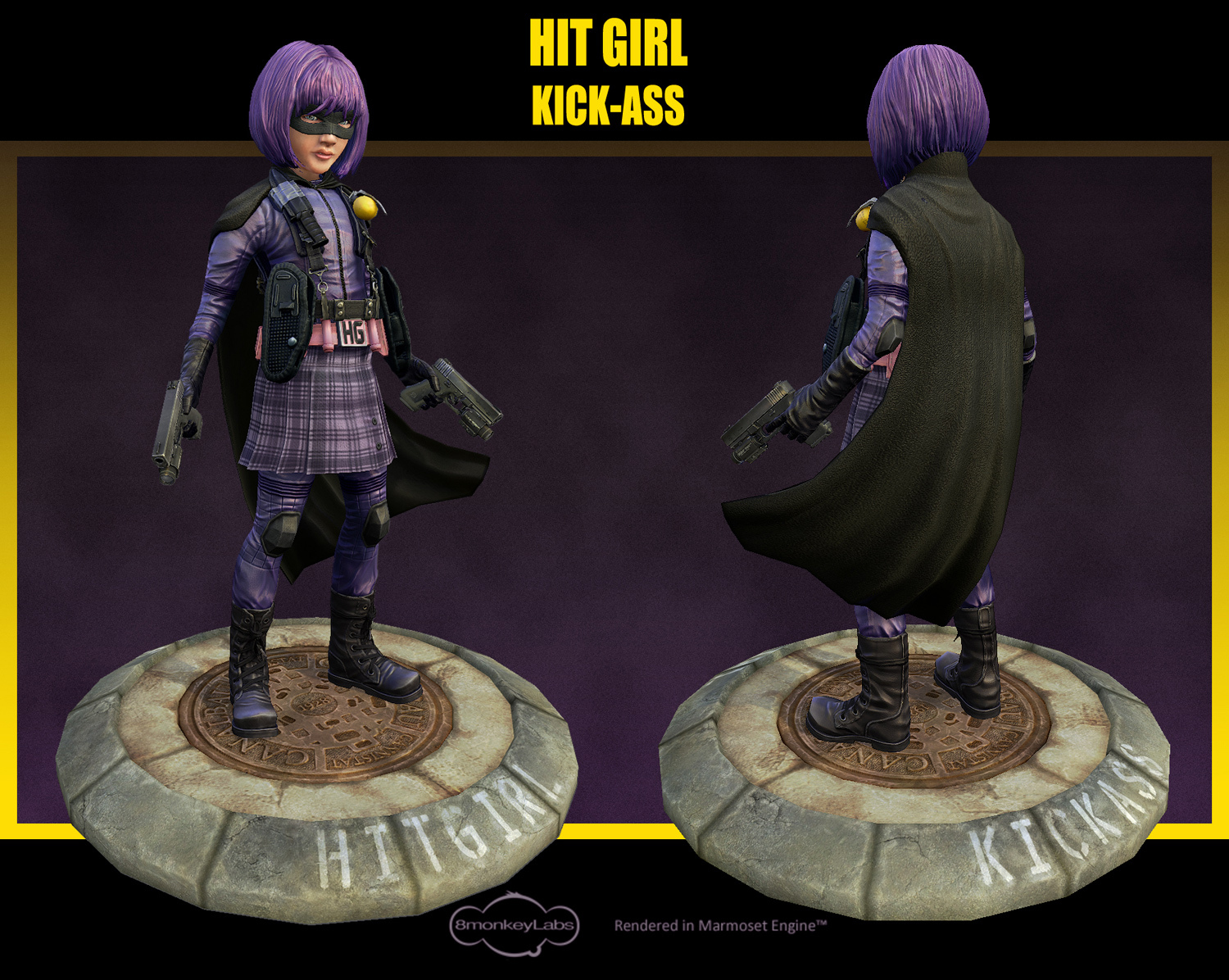 Hitgirl for web pose on base