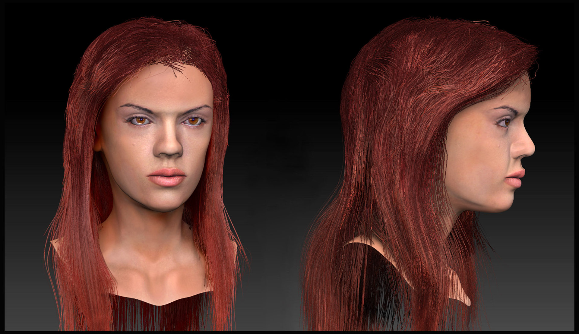 Female head by audreee d6io07p
