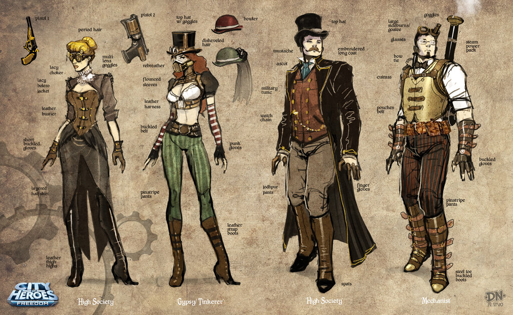 Steampunk sketches a by david nakayama d4hq89q