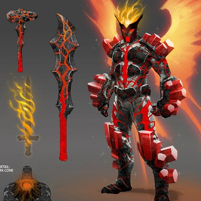 Elemental armor  fire by david nakayama d4lud19