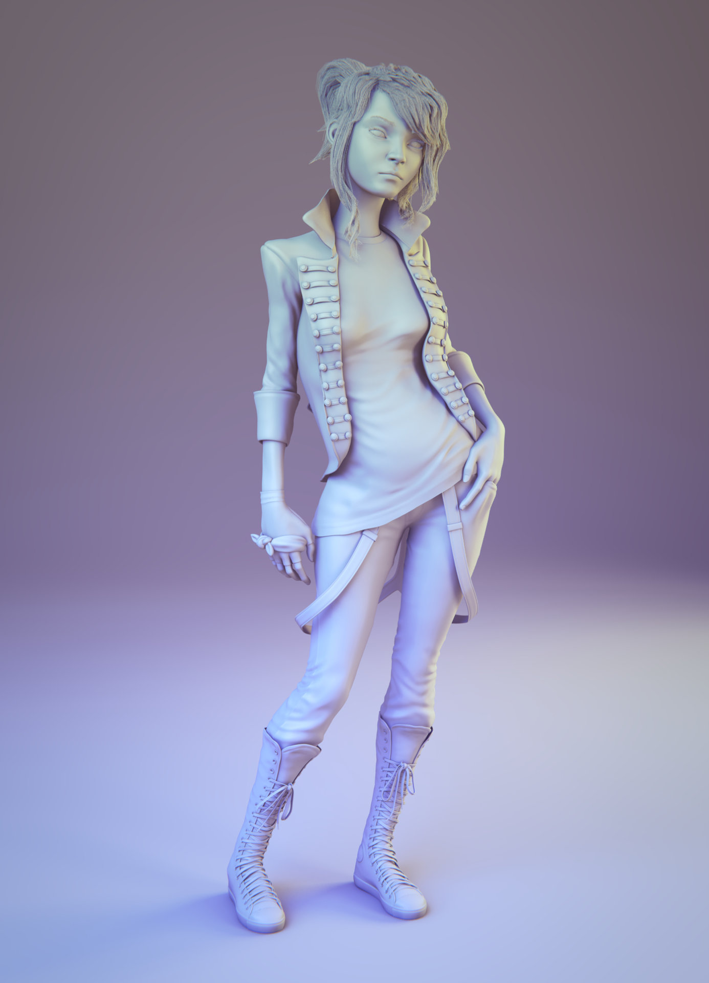 Violet clay
