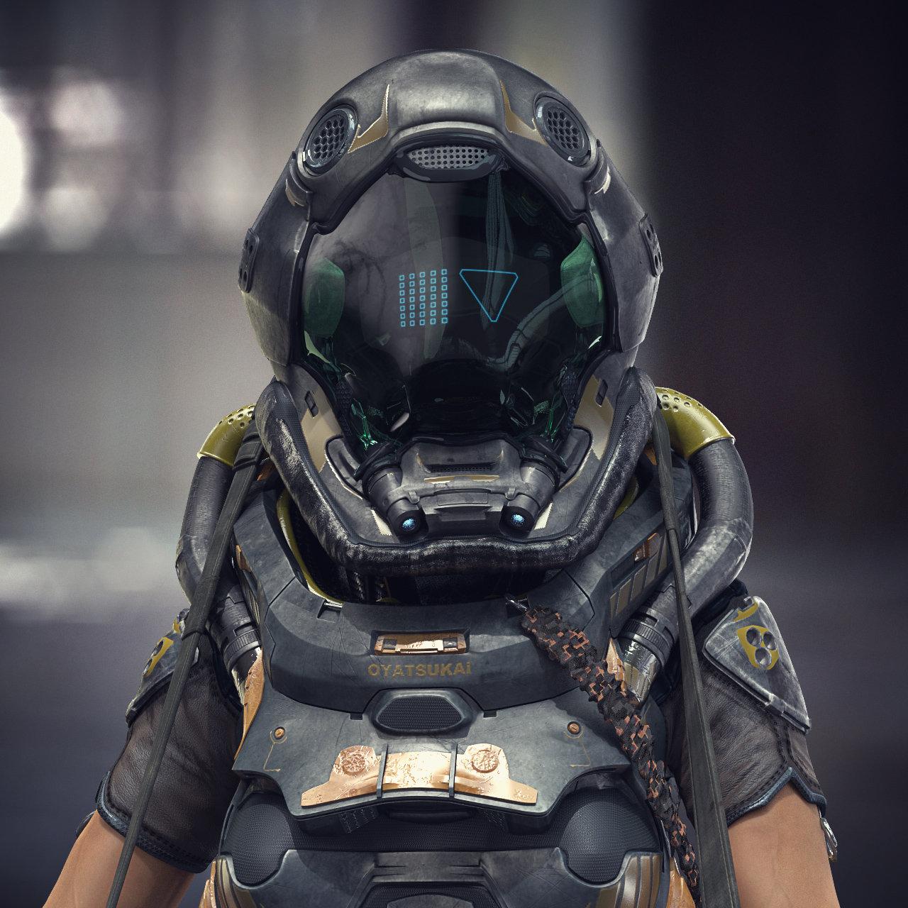 Closeup helmet