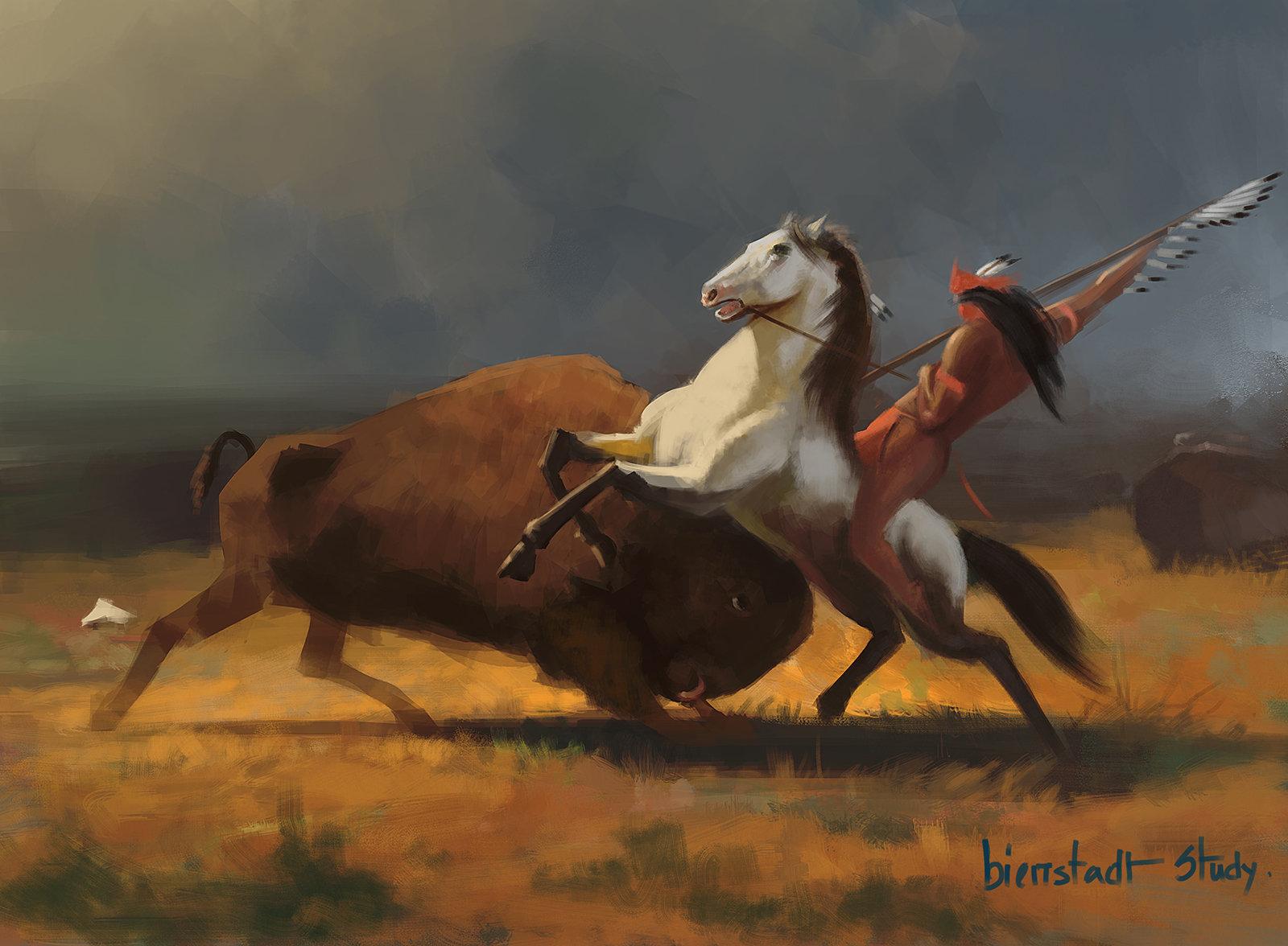 Albert Bierstadt Study
