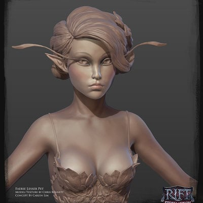 Chrisbennett faerie head zbrush rift
