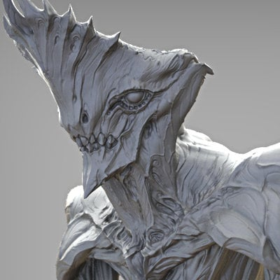 Crowned alien zbrush2