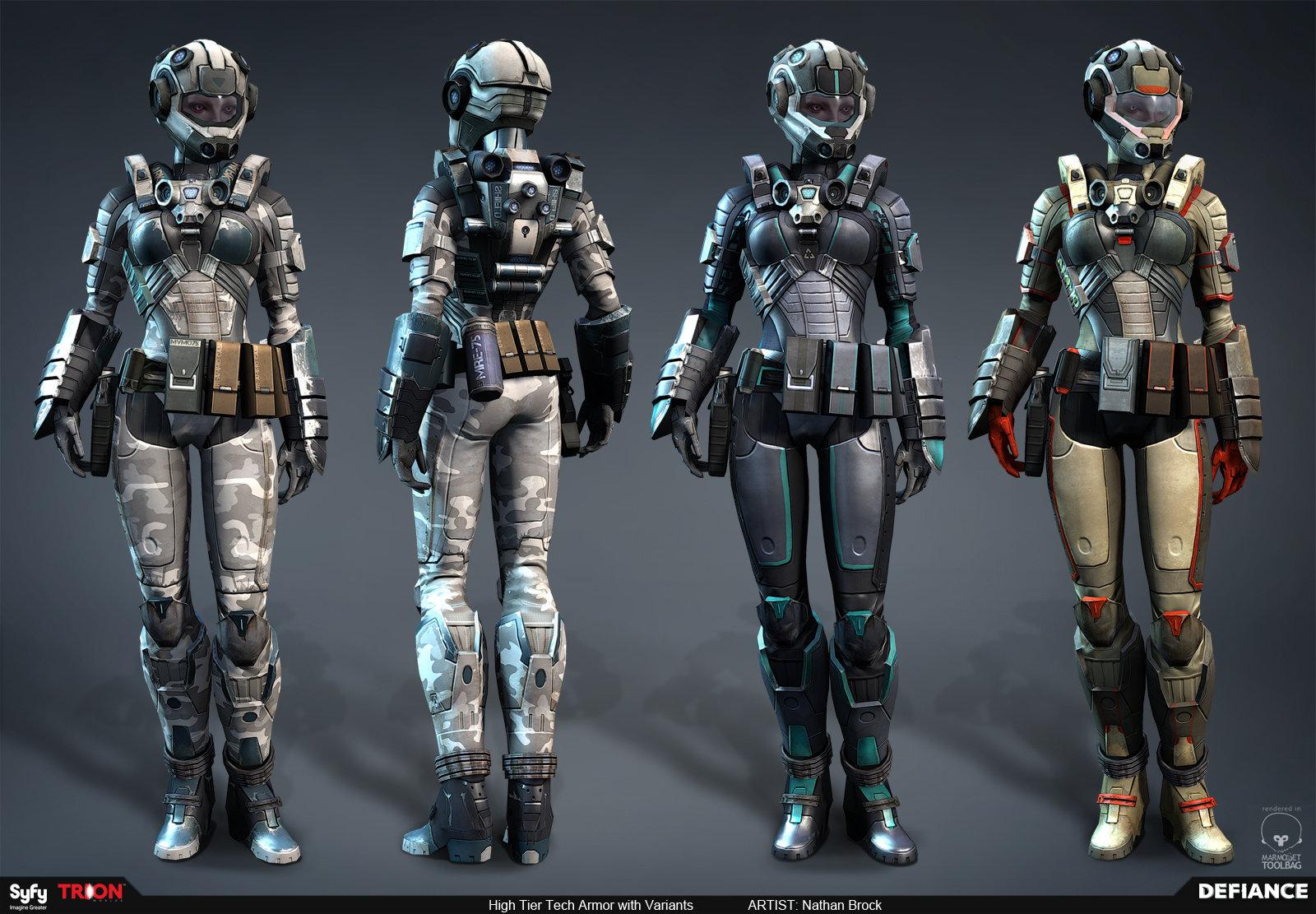 Artstation Defiance Player Tech Armor Nathan Brock
