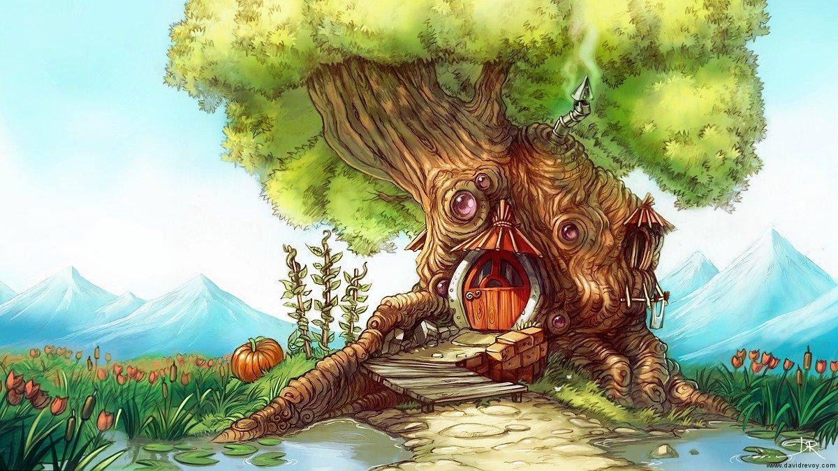 Colorful fantasy tree