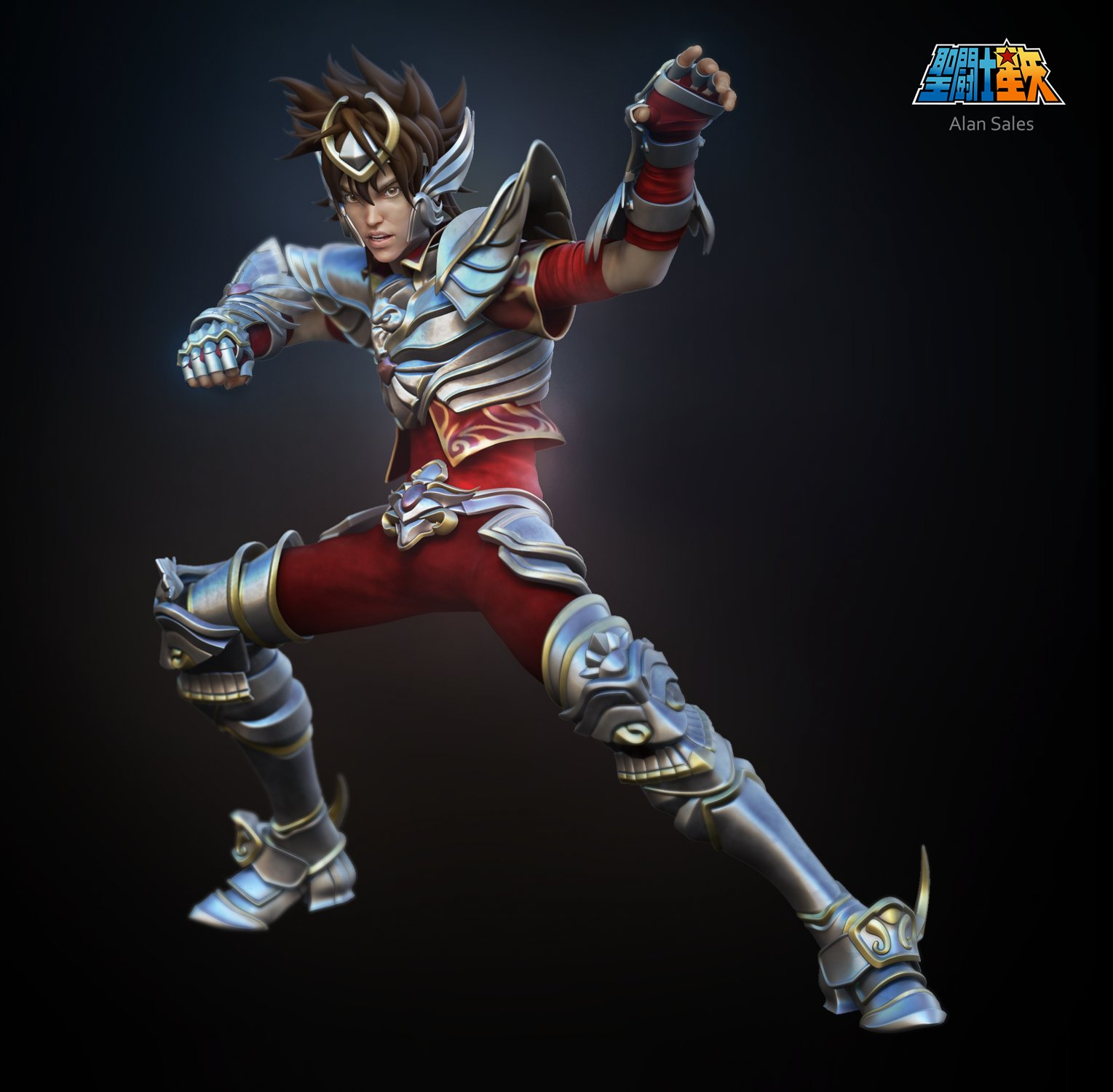 Artstation saint seiya anime 3d fan art challenge for Outer space 3d model